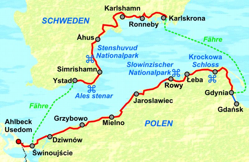 Ostseeradweg Polen Von Usedom An Der Polnischen Ostsee Nach